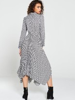 Very Pleated Skirt Shirt Dress