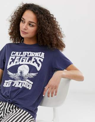 Brave Soul eagles knot front t shirt
