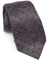 Kiton Dot Print Wool & Silk Tie