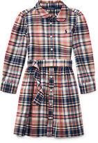 Ralph Lauren 2-6X Plaid Cotton Madras Shirtdress