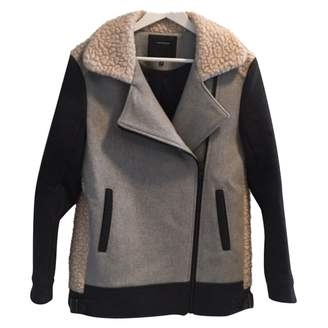Surface to Air Grey Wool Coat for Women