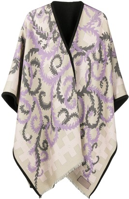 Emilio Pucci x Koche abstract-print oversize wool scarf