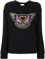 Iceberg heart and wings sweater