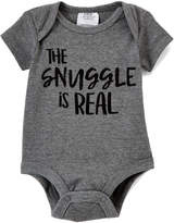 Baby Essentials Gray 'The Snuggle is Real' Bodysuit - Infant