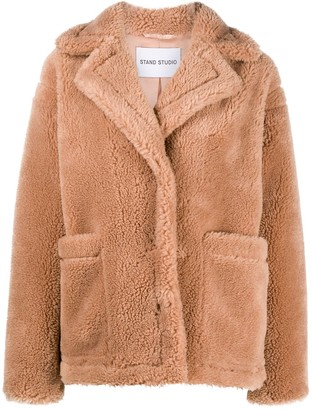 Stand Studio Long-Sleeve Shearling Coat