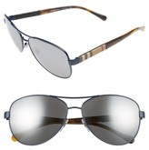 blue burberry sunglasses ppph  Burberry Women's 59Mm Mirrored Aviator Sunglasses