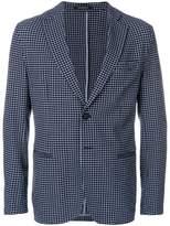 Emporio Armani micro-check unstructured blazer