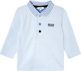 HUGO BOSS Stripe collar cotton polo shirt 1-18 months