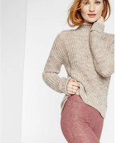 Express space dye shaker knit pullover sweater