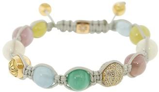 Shamballa Jewels 18kt Yellow Gold Diamond Bead Bracelet