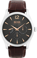 HUGO BOSS 1513490 Commander stainless steel and leather watch