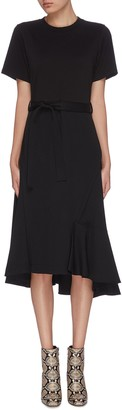 3.1 Phillip Lim Belted draped A-line dress