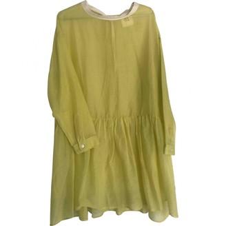 Semi-Couture Semicouture Yellow Cotton Dress for Women