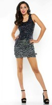 Mac Duggal Ombre Beaded Homecoming Dress