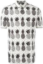 Dolce & Gabbana pineapple print polo shirt - men - Cotton - 50