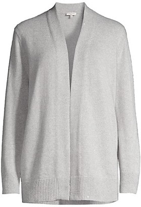 Lafayette 148 New York Chine Open-Front Cardigan