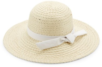 Ava & Aiden Ribbon-Trim Straw Hat