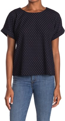 MelloDay Printed Dolman Sleeve Top