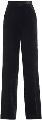 Etro Satin-trimmed Velvet Wide-leg Pants