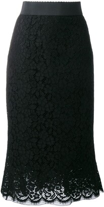 Dolce & Gabbana Lace Pencil Skirt
