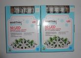 Martha Stewart 2 Boxes Living 50-light Led Warm White Snowflake Light Set