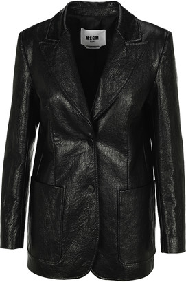 MSGM Faux Leather Jacket