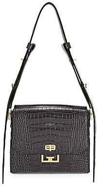 Givenchy Women's Medium Eden Crocodile-Embossed Leather Shoulder Bag
