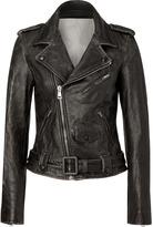 Each Other Black Vintage Lambskin Biker Jacket