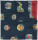 Dolce & Gabbana emblem print scarf - kids - Cashmere/Modal - One Size