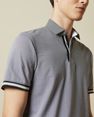 Ted Baker ISLANDA Textured cotton polo shirt
