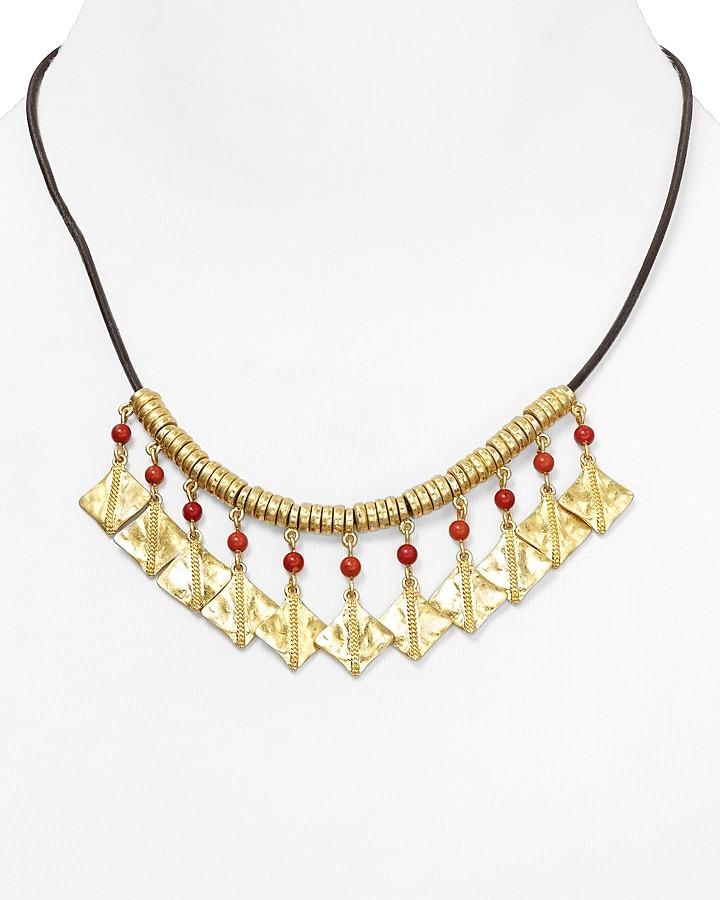 """Lauren Ralph Lauren On the Horizon Leather Cord Necklace, 16"""""""