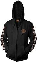 Harley-Davidson B&S Zip Hooded Sweatshirt - Military Skull Text 3X