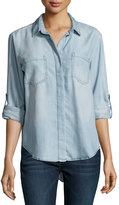 Velvet Heart Riley Long-Sleeve Chambray Blouse, 378-Blue