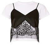 Michelle Mason Lace Camisole Layered Tee