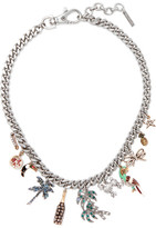 Marc Jacobs Tropical Silver-tone, Swarovski Crystal And Enamel Necklace - one size