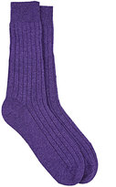 Barneys New York Men's Ribbed Cashmere Socks