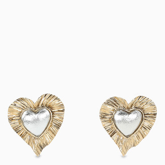 Saint Laurent Radiant heart Heritage earrings