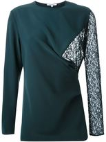 Carven lace panel blouse