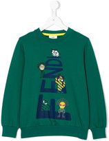 Fendi cartoon print sweatshirt - kids - Cotton/Spandex/Elastane - 3 yrs