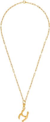Alighieri SSENSE Exclusive Gold 'H' Alphabet Necklace