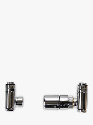 John Lewis & Partners Radiator TRV Duel Fuel Valves, Polished Chrome