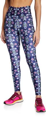 Terez Floral Printed High-Rise Active Leggings