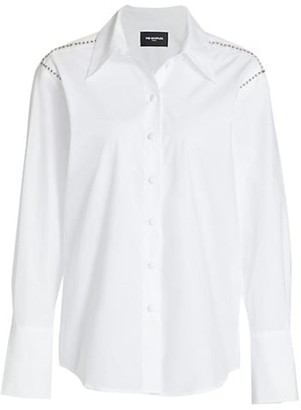 The Kooples Long-Sleeve Studded Shirt