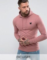 Good For Nothing Hoodie In Pink With Chest Logo