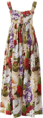 Dolce & Gabbana Floral Print Long Dress