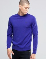 Fred Perry Sweater With Crew Neck In Regal Marl