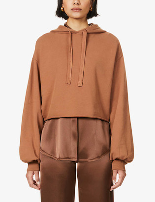 Frame Crop Easy cotton-jersey Hoody