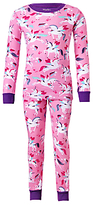 Hatley Children's Rainbow Unicorns Pyjama Set, Pink