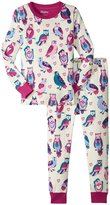 Hatley Happy Owls Pajama Set (Toddler/Kid) - White - 4