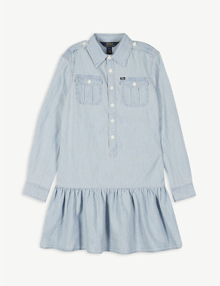 Ralph Lauren Denim peplum shirt dress 2-12 years